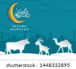 arabic calligraphic text of eid ...   Shutterstock .eps vector #1448332895
