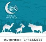 arabic calligraphic text of eid ...   Shutterstock .eps vector #1448332898