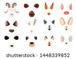 animal face elements set... | Shutterstock .eps vector #1448339852
