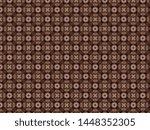 christmas knitted fleece... | Shutterstock . vector #1448352305