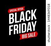 black friday design big sale | Shutterstock .eps vector #1448369318