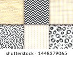 abstract hand drawn geometric... | Shutterstock .eps vector #1448379065