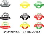 made in lithuania collection of ... | Shutterstock .eps vector #1448390465