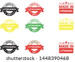 made in lithuania collection of ... | Shutterstock .eps vector #1448390468