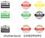 made in lithuania collection of ... | Shutterstock .eps vector #1448390492