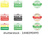 made in lithuania collection of ... | Shutterstock .eps vector #1448390495