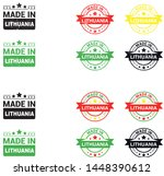 made in lithuania collection of ... | Shutterstock .eps vector #1448390612