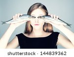studio photo of a young woman... | Shutterstock . vector #144839362