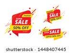 big sale  offer banner  sticker ... | Shutterstock .eps vector #1448407445