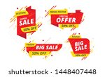 festive big sale  offer banner  ... | Shutterstock .eps vector #1448407448