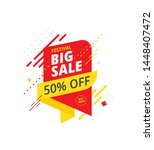 big sale  offer banner  sticker ... | Shutterstock .eps vector #1448407472