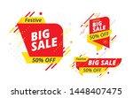 festive big sale  offer banner  ... | Shutterstock .eps vector #1448407475