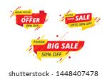 festive big sale  offer banner  ... | Shutterstock .eps vector #1448407478