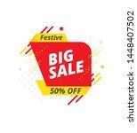big sale banner  sticker design ... | Shutterstock .eps vector #1448407502