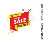 festive super sale  offer... | Shutterstock .eps vector #1448407505
