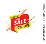 festive super sale  offer... | Shutterstock .eps vector #1448407508