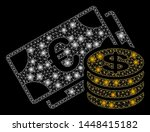 bright mesh euro and dollar...   Shutterstock .eps vector #1448415182