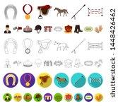 hippodrome and horse cartoon... | Shutterstock . vector #1448426462