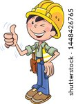 construction worker approving... | Shutterstock .eps vector #1448426765