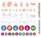 hand gesture cartoon icons in...   Shutterstock . vector #1448426828