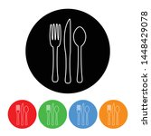 fork knife and spoon icon black ...   Shutterstock .eps vector #1448429078