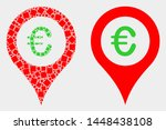 dotted and flat euro map marker ... | Shutterstock .eps vector #1448438108