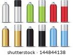 set spray template color bitmap ... | Shutterstock . vector #144844138