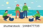 group of young people...   Shutterstock .eps vector #1448477735