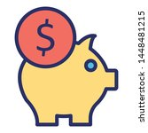 cash bank isolated vector icon ...   Shutterstock .eps vector #1448481215