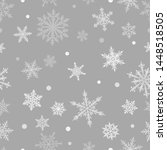 christmas seamless pattern of... | Shutterstock .eps vector #1448518505