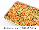 frozen mixed vegetable in a...