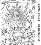 hand drawn with inspiration...   Shutterstock .eps vector #1448578265