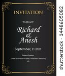 wedding invitation cards with a ...   Shutterstock .eps vector #1448605082