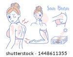 beauty cartoon woman with... | Shutterstock .eps vector #1448611355
