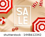 summer sale beach background... | Shutterstock .eps vector #1448612342
