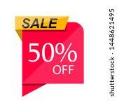 special sale discount sticker... | Shutterstock .eps vector #1448621495