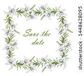 gentle square frame for... | Shutterstock .eps vector #1448628095