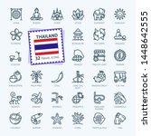 thailand  thai   minimal thin... | Shutterstock .eps vector #1448642555