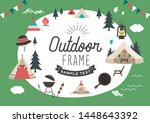 trees and tents colorful...   Shutterstock .eps vector #1448643392