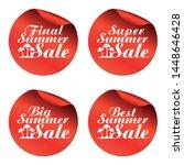 red summer sale stickers final... | Shutterstock .eps vector #1448646428