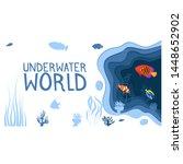 underwater world design with... | Shutterstock .eps vector #1448652902