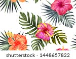 green red exotic pattern.... | Shutterstock .eps vector #1448657822