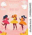 music festival vertical banner. ...   Shutterstock .eps vector #1448664485