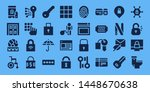 access icon set. 32 filled... | Shutterstock .eps vector #1448670638