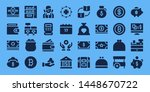 coin icon set. 32 filled coin...   Shutterstock .eps vector #1448670722
