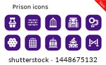 prison icon set. 10 filled... | Shutterstock .eps vector #1448675132