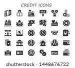 credit icon set. 30 filled...   Shutterstock .eps vector #1448676722