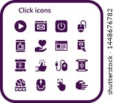click icon set. 16 filled click ... | Shutterstock .eps vector #1448676782