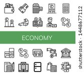 set of economy icons such as...   Shutterstock .eps vector #1448677112