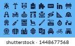 logo icon set. 32 filled logo... | Shutterstock .eps vector #1448677568